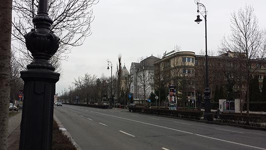 A emblemática Avenida Andrássy...